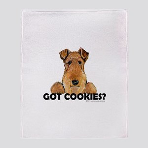 Lakeland Terrier Cookies Throw Blanket