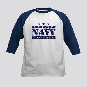 Proud Navy Brother Kids Baseball Jersey