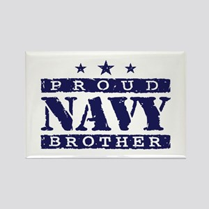 Proud Navy Brother Rectangle Magnet