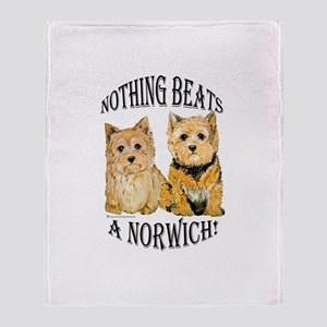 Nothing Beats a Norwich Terri Throw Blanket