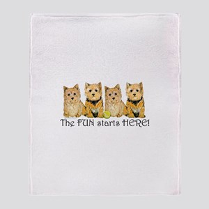 Norwich Terrier Fun Throw Blanket