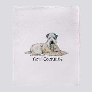 Wheaten Terriers Cookie Dogs Throw Blanket