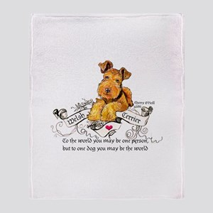 Welsh Terrier World Throw Blanket