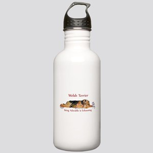 Exhausted Welsh Terrier Stainless Water Bottle 1.0