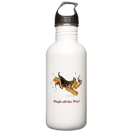 Welsh Terrier Holiday Dog! Stainless Water Bottle