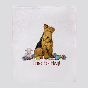 Welsh Terrier Playtime! Throw Blanket