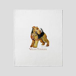 Welsh Terrier Design Throw Blanket
