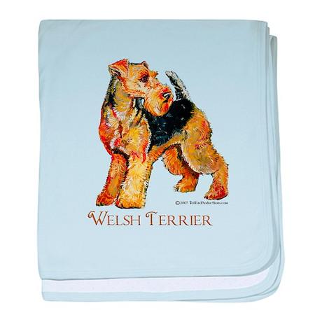 Welsh Terrier Design baby blanket