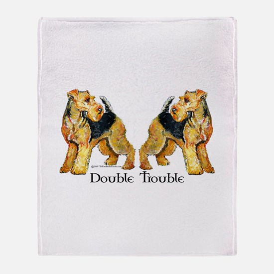 Welshie Double Trouble Throw Blanket