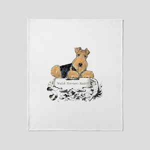 Welsh Terriers Rule! Throw Blanket