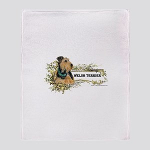 Vintage Welsh Terrier Throw Blanket