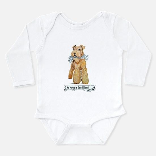 No News is Good News Long Sleeve Infant Bodysuit