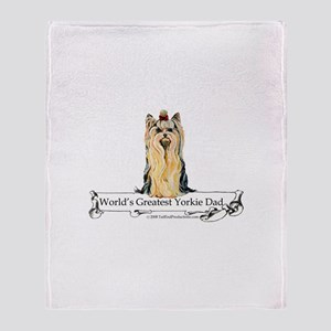Greatest Yorkshire Terrier Throw Blanket