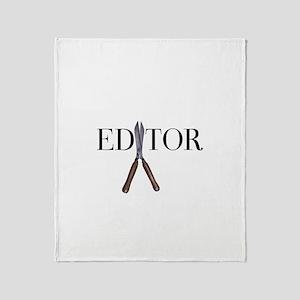 Editor—Hedge Shears Throw Blanket