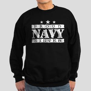 Proud Navy Sister Sweatshirt (dark)