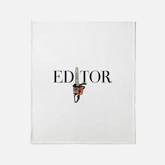 Editor—Chainsaw Throw Blanket