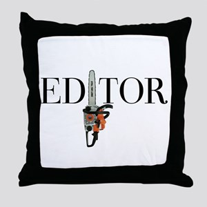 Editor—Chainsaw Throw Pillow