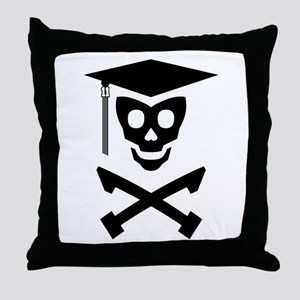 Grad Class Skully Throw Pillow