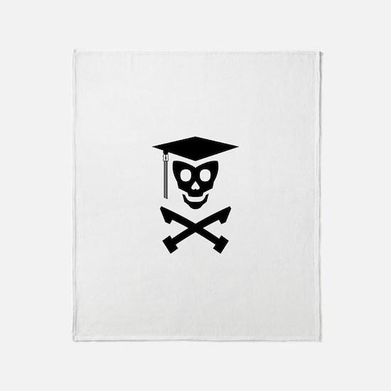 Grad Class Skully Throw Blanket