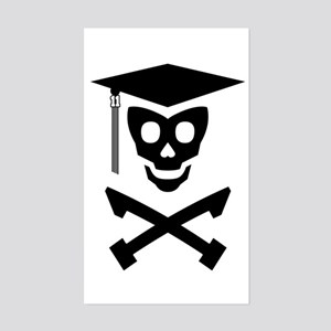 Grad Class Skully Sticker (Rectangle)