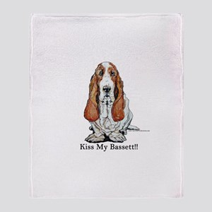 Bassett Hound Kiss Throw Blanket
