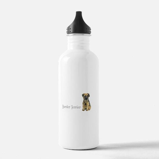 Border Terrier Sports Water Bottle