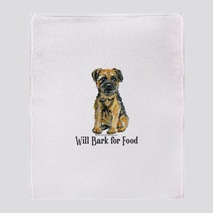 Border Terrier Bark Throw Blanket