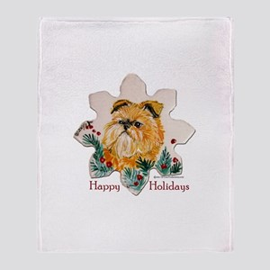 Brussels Happy Holidays Throw Blanket