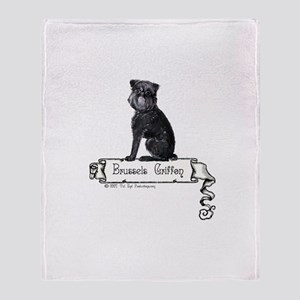 Brussels Griffon Banner Throw Blanket
