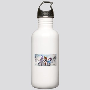 Schnauzer Winter Holiday Stainless Water Bottle 1.