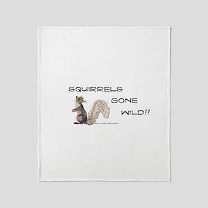 Wild Squirrel Throw Blanket
