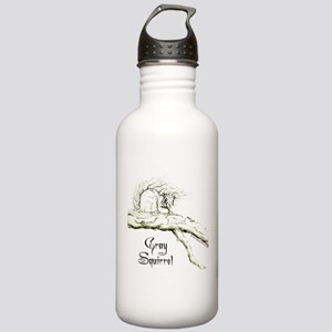 Graphic Gray Squirrel Stainless Water Bottle 1.0L