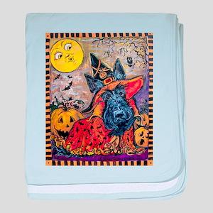 Scottie Halloween Witch baby blanket