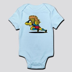 Lion playing rugby Infant Bodysuit