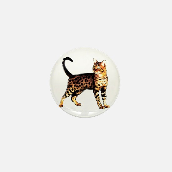Bengal Cat: Raja Mini Button