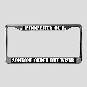 Funny Older But Wiser License Plate Frame