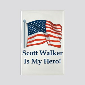 Scott Walker is my hero! Rectangle Magnet