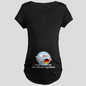 Stork Baby Germany Australia Maternity Dark T-Shir