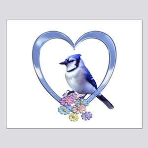 Blue Jay in Heart Small Poster