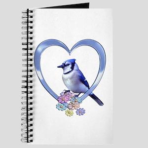 Blue Jay in Heart Journal
