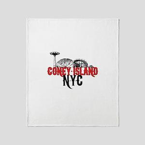 Coney Island NYC Throw Blanket