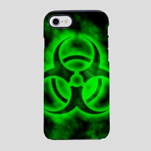 Green Biohazard Symbol iPhone 7 Tough Case