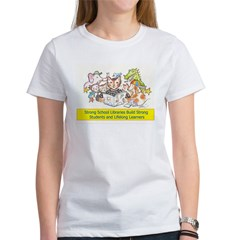 Library Cat Women's T-Shirt