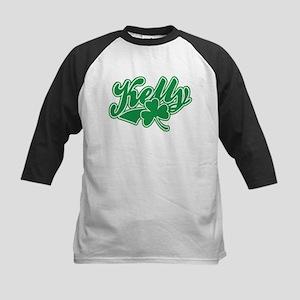 Kelly Irish Shamrock Kids Baseball Jersey