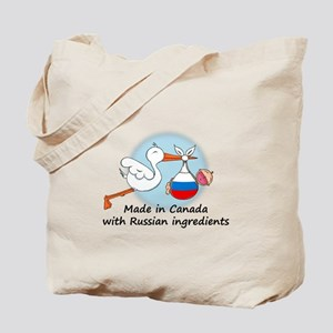 Stork Baby Russia Canada Tote Bag