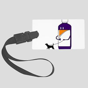 Codeine Bottle Walking the dog Large Luggage Tag