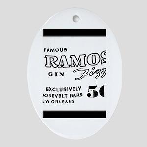 Ramos Gin Fizz Ornament (Oval)