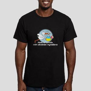 Stork Baby Ukraine Canada Men's Fitted T-Shirt (da