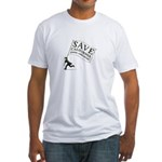 SAVE California School Libraries Fitted T-Shirt