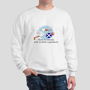 Stork Baby Scotland Canada Sweatshirt